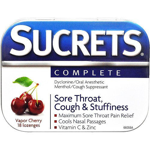 Sucrets Complete Sore Throat Lozenges 18 Count for Cold Medicine by Insight Pharmaceuticals LLC | Medical Supplies