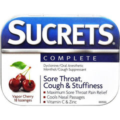 Buy Sucrets Complete Sore Throat Lozenges 18 Count by Insight Pharmaceuticals LLC | Home Medical Supplies Online