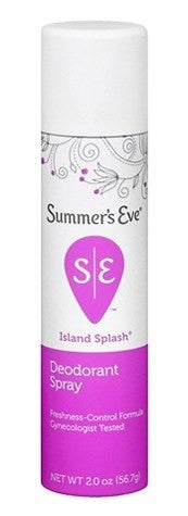 Summers Eve Island Splash Deodorant Spray 2 oz