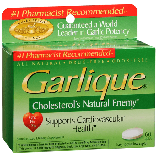 Garlique Dietary Supplement For Cardiovascular Health Support