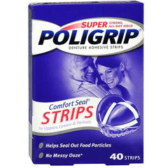 Buy Super Poligrip Comfort Seal Denture Adhesive Strips online used to treat Denture Care - Medical Conditions