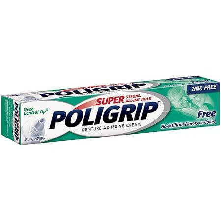 Buy Super Poligrip Free Denture Adhesive Cream online used to treat Oral Care Products - Medical Conditions