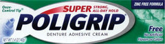 Buy Super Poligrip Free Denture Adhesive Cream by GlaxoSmithKline | Home Medical Supplies Online