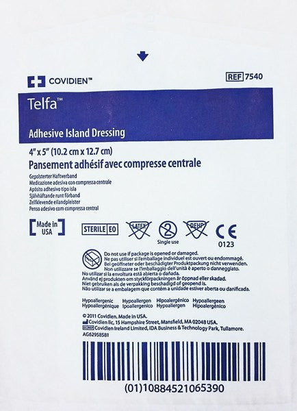 Telfa Adhesive Island Dressing 4 x 5, Sterile 25/Box - Wound Care - Mountainside Medical Equipment
