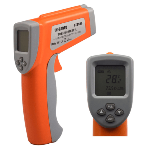 Digital Dual Laser Infrared Thermometer with Adjustable Emissivity
