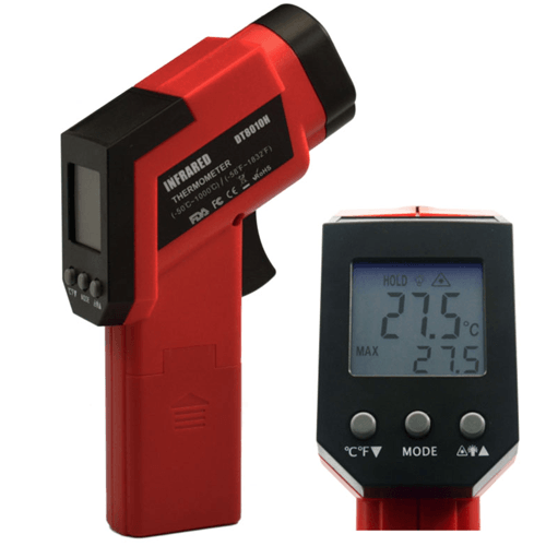 High Temperature IR Thermometer with Dual Laser Beams
