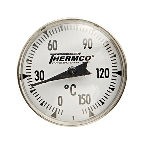 "Bi-Metal Pocket 1"" Thermometer 5"" Stem"