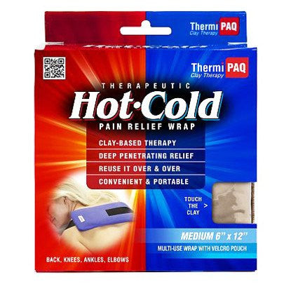 Thermipaq Reusable Hot /Cold Pain Relief Therapy Wrap with Velcro strap