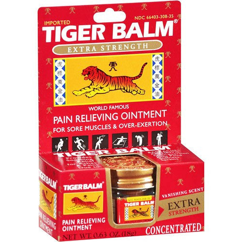 Buy Tiger Balm Rub Extra Strength Pain Relief 0.63 oz Jar online used to treat Pain Management - Medical Conditions