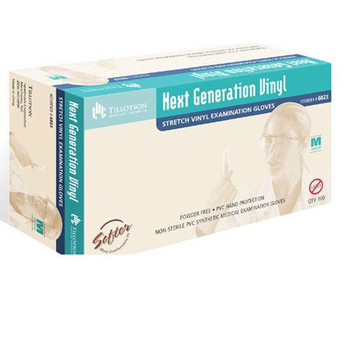 Buy Tillotson Next Generation Vinyl Exam Gloves 100/Box online used to treat Disposable Gloves - Medical Conditions