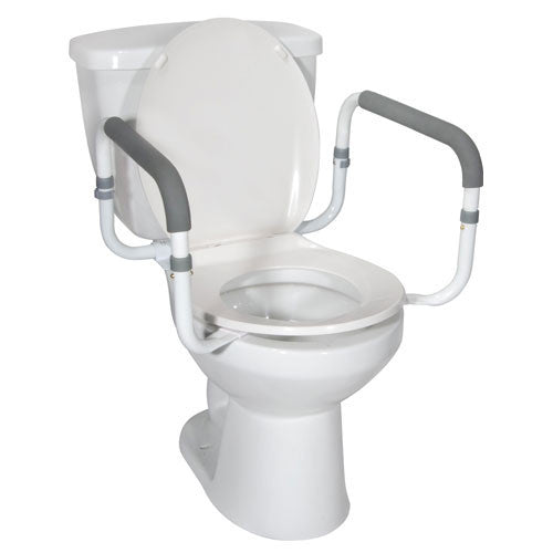 Buy Toilet Safety Rail with Padded Handles by Drive Medical | Home Medical Supplies Online