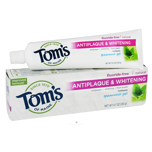 Tom's of Maine Anti-plaque & Whitening Toothpaste, Fluoride-Free for Toothpaste by Tom