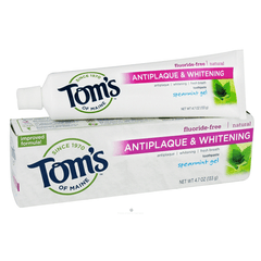 Tom's of Maine Anti-plaque & Whitening Toothpaste, Fluoride-Free for Toothpaste by Tom's of Maine | Medical Supplies