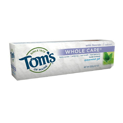 Tom's of Maine Whole Care Natural Spearmint Toothpaste Gel