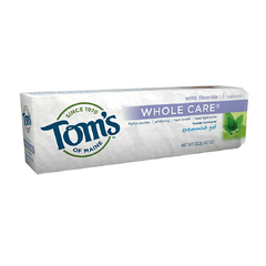 Buy Tom's of Maine Whole Care Natural Spearmint Toothpaste Gel with Coupon Code from Tom's of Maine Sale - Mountainside Medical Equipment