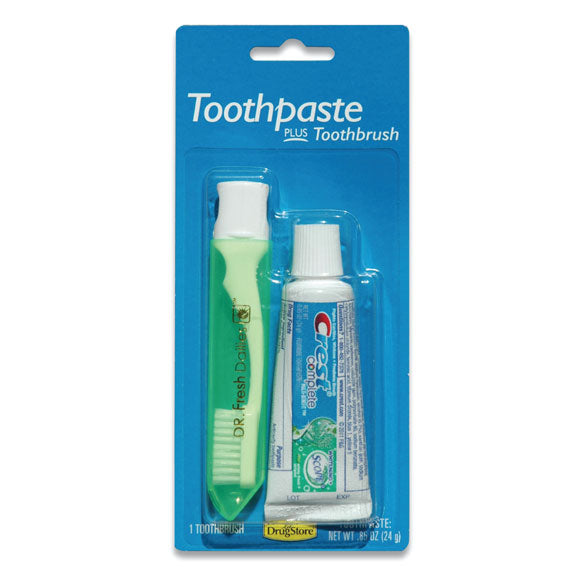 Toothbrush with Toothpaste Combo for Disaster Relief Supplies