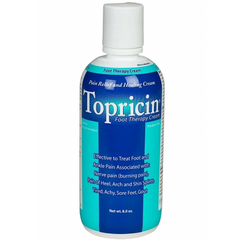 Buy Topricin Foot Pain Relief Cream, 8 oz Bottle by Topical BioMedics | Pain Relief Cream