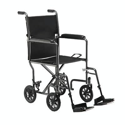 "Transport Chair with Footrests (Folding 19"" Wide) - Wheelchairs - Mountainside Medical Equipment"