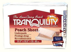 Buy Tranquility Peach Sheet Underpads 12 Packs by Tranquility online | Mountainside Medical Equipment