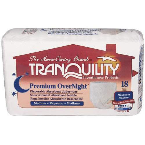 Buy Tranquility OverNight Disposable Adult Underwear online used to treat Over Night Protection - Medical Conditions