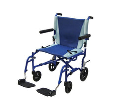 TranSport Aluminum Transport Chair for Wheelchairs by Drive Medical | Medical Supplies