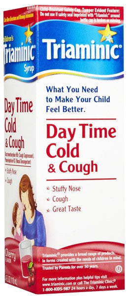 Triaminic Day Time Cold and Cough Medicine Cherry 4 oz for Cold Medicine by Novartis Consumer Health | Medical Supplies
