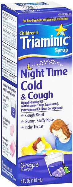 Triaminic Childrens Nighttime Cold And Cough Medicine 4 Oz