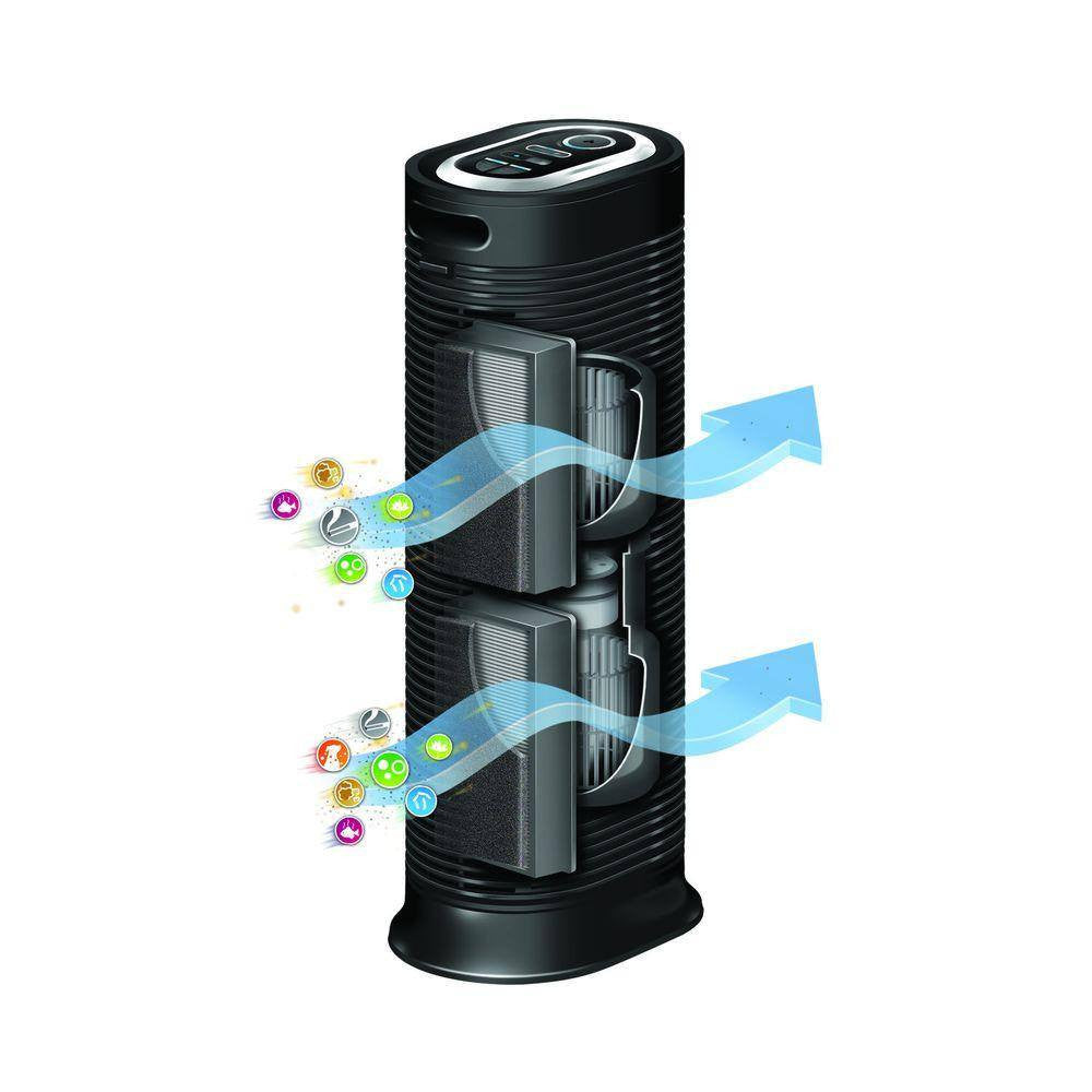 Buy Honeywell True HEPA Tower Air Purifier with Allergen Remover online used to treat Air Purifier - Medical Conditions