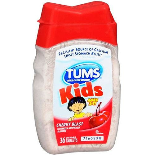 Buy Tums Kid Cherry Blast Chewable Tablets used for Heartburn by GlaxoSmithKline