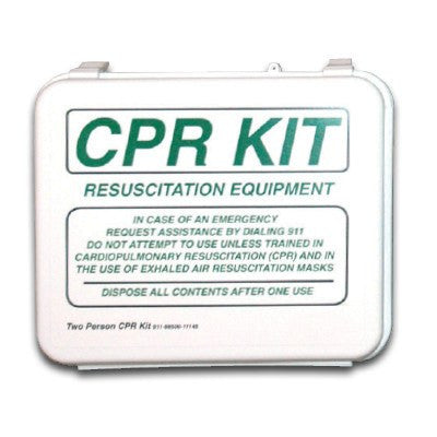 Two Person CPR Kit with Supplies - CPR Masks & Supplies - Mountainside Medical Equipment