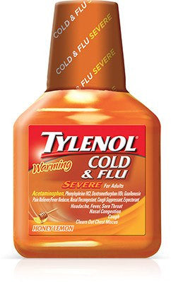 Tylenol Severe Cold & Flu Warming Honey Lemon 8 oz