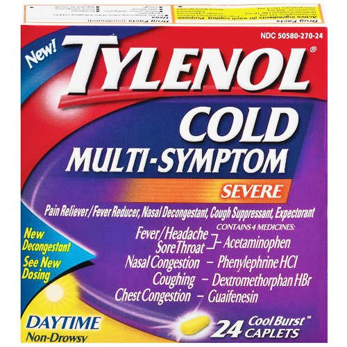 Buy Tylenol Cold Multi Symptom Daytime Formula 24 Caplets online used to treat Cold Medicine - Medical Conditions