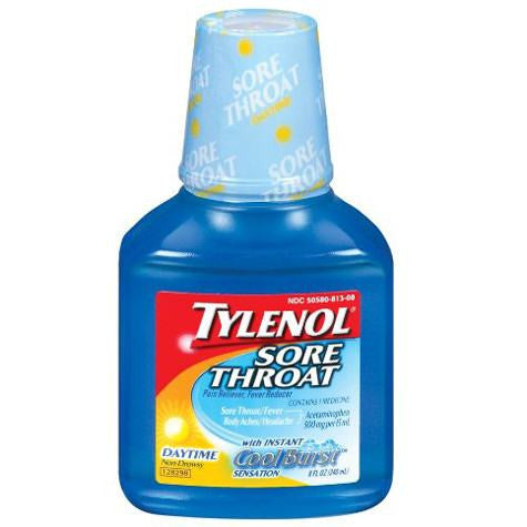 Tylenol Cold Sore Throat Day Pain Reliever 8 oz