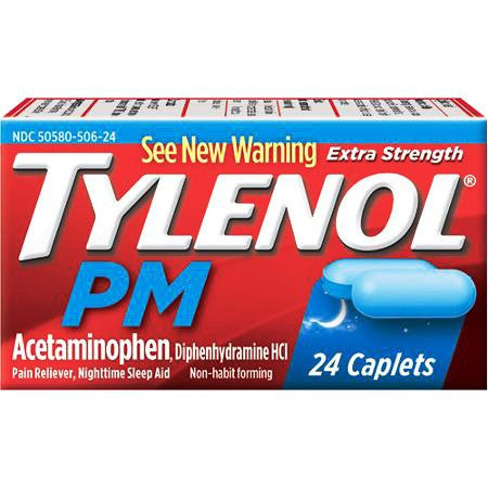 Tylenol PM Extra Strength 500mg Pain Reliever-Sleep Aid