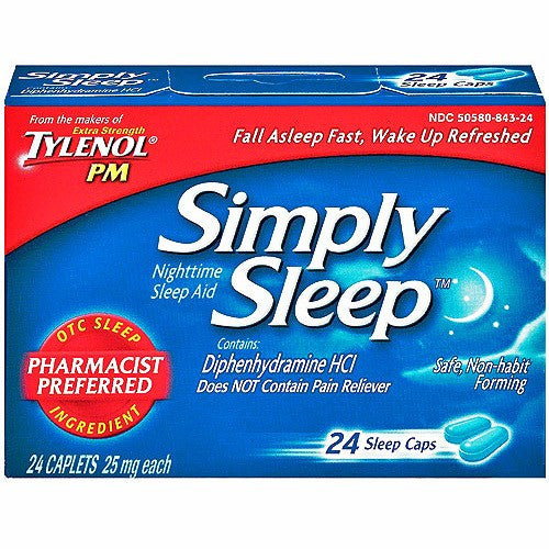 Simply Sleep Nighttime Sleeping Aid Capsules