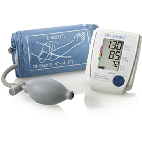 Buy Advanced Manual Blood Pressure Monitor with Digital Screen by LifeSource from a SDVOSB | Blood Pressure Monitors