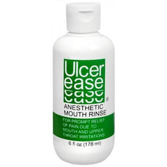 Buy UlcerEase Anesthetic Mouth Rinse for Canker Sores by Crown Laboratories from a SDVOSB | Cold Sores