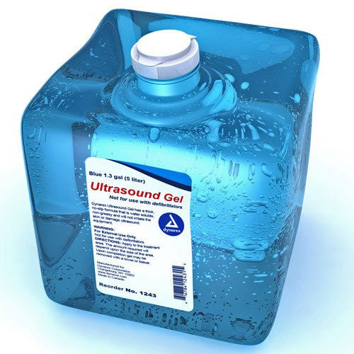 Ultrasound Gel 1.3 Gallon with Empty Squeeze Bottle