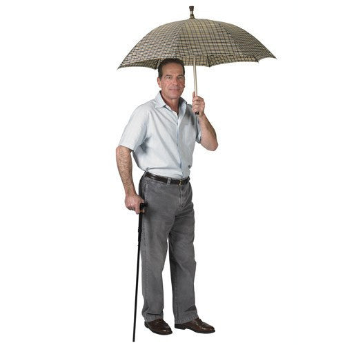 Umbrella Cane with Wooden T-Handle - Canes - Mountainside Medical Equipment
