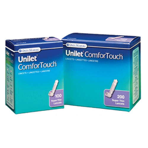 Buy Unilet Comfor Touch Super Thin Lancets 30 Gauge used for Lancets by Owen Mumford