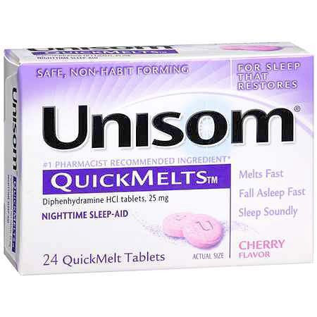 Unisom Quickmelts Sleeping Aid Tablets 24/box