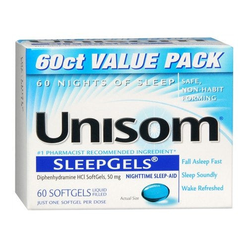 Buy Unisom Sleepgels Nighttime Sleep Aid 60 Count by Chattem | Home Medical Supplies Online