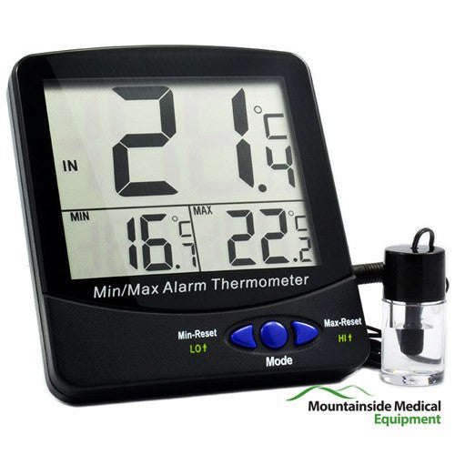 Vaccine Bottle Refrigerator Thermometer with Large Triple Digital Display - Refrigerator Thermometers - Mountainside Medical Equipment