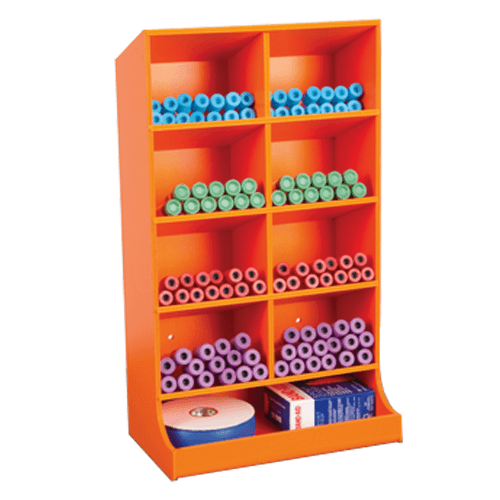 Vertical Pharmacy Storage Unit with Sloped Shelves