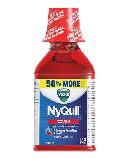 Buy Vicks Nyquil Cough Liquid with Cherry Flavor by Procter & Gamble | Home Medical Supplies Online