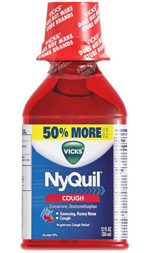 vicks nyquil cough liquid with cherry flavor