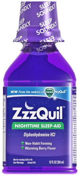 Vicks ZZZquil Sleep Aid Liquid Warming Berry Flavor 6 oz