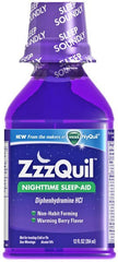 Buy Vicks ZZZquil Sleep Aid Liquid Warming Berry Flavor 6 oz by Rochester Drug | SDVOSB - Mountainside Medical Equipment