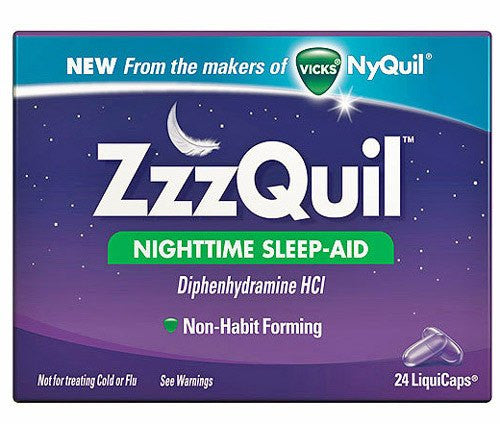 Buy Vicks ZZZquil Sleep Aid 24 Liquid Caplets by Procter & Gamble wholesale bulk | Insomnia