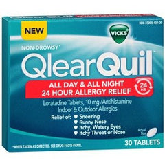 Buy Vicks QlearQuil Allergy 24 Hour Relief used for Allergy Relief by Procter & Gamble